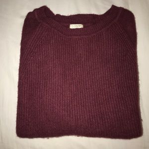 Maroon J. Crew Sweater